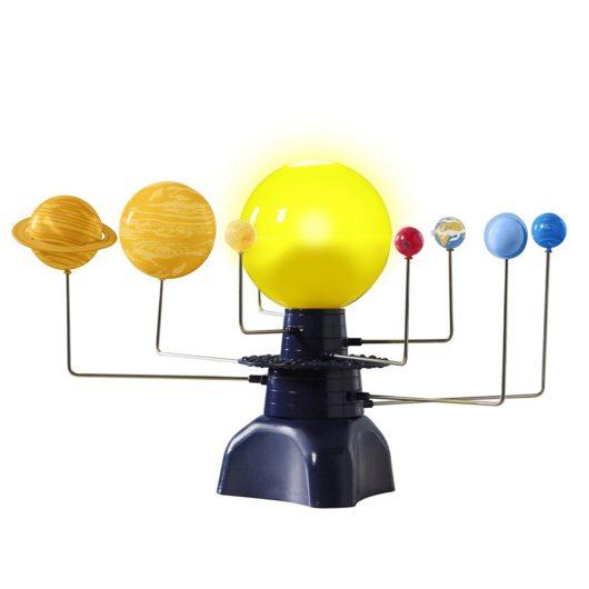 Night light and moving planetarium solar system