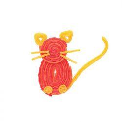 A cat made of Wikki Stik
