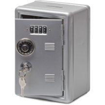 Metal Locker Bank – Silver