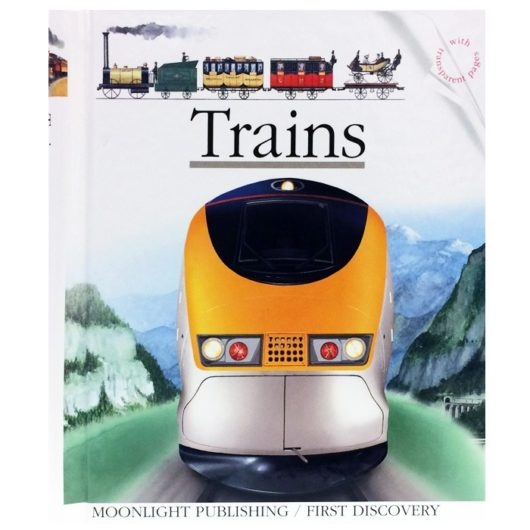 Children's Train book with 18 interactive acetate pages to explore