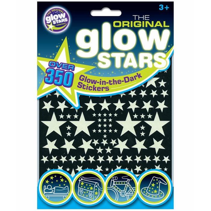 Over 350 glow in the dark star stickers for children