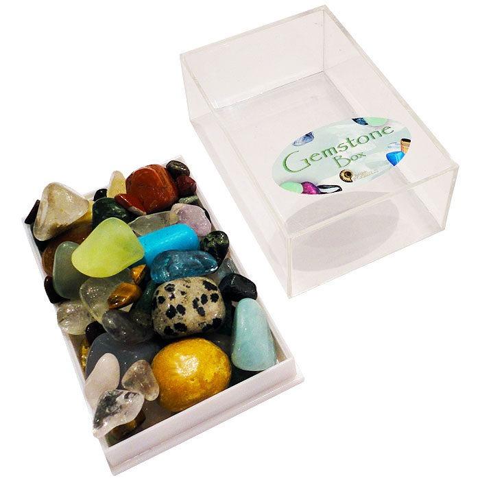 Mini box of assorted gemstones for junior geologists