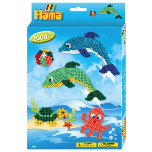 2000 midi bead Hama Bead set with sea life dolphin theme