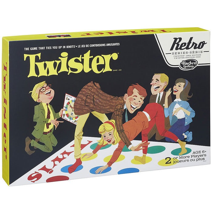 Replica of the original 1966 Twister family game