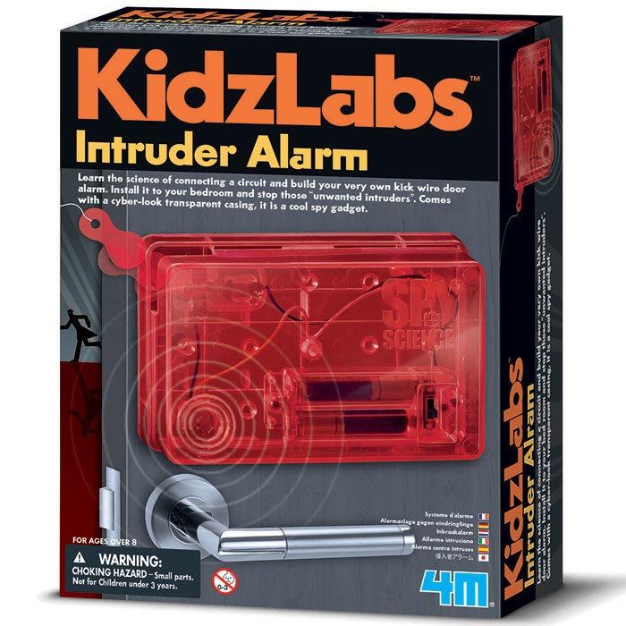 Make your own secret spy bedroom door intruder alarm with cardboard door hanger