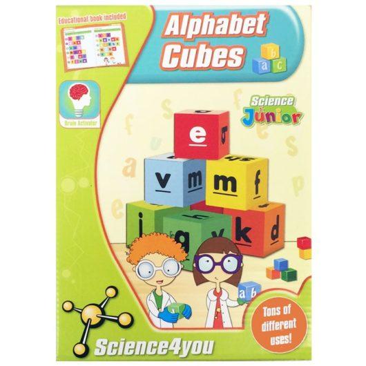 Plastic alphabet blocks for letter recognition and spelling