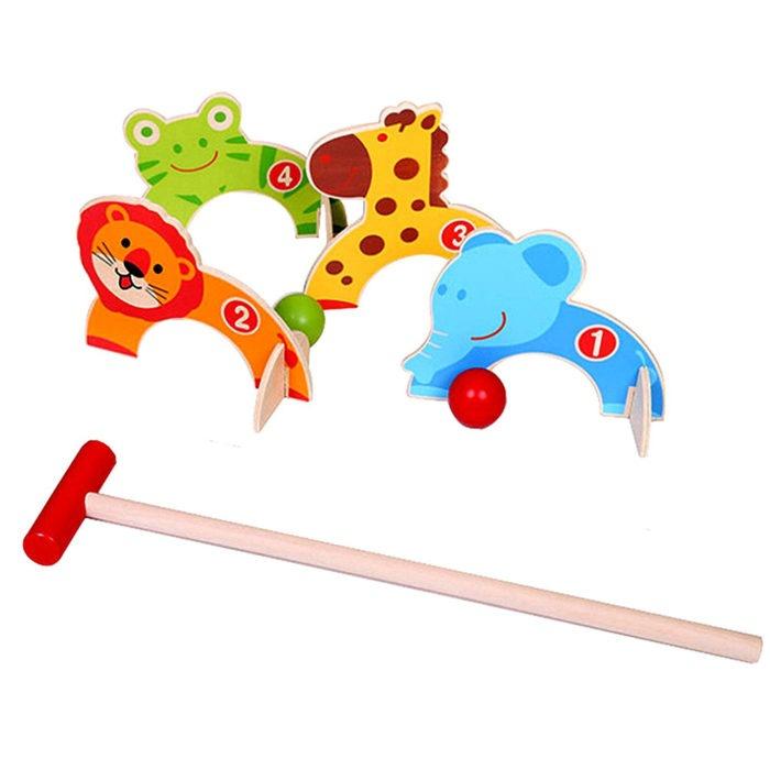 Animal themed croquet garden games set for children