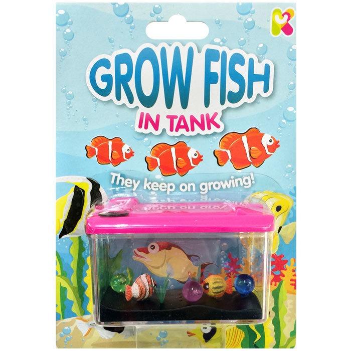 Mini aquarium toy with growing fish measuring 9cm in length