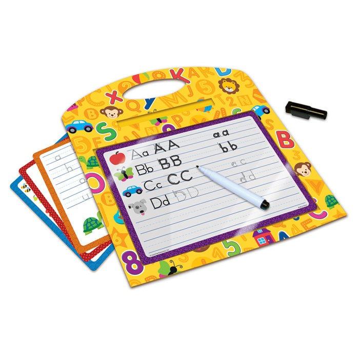 Children's wipe clean handwriting practice activity set with dry erase pen