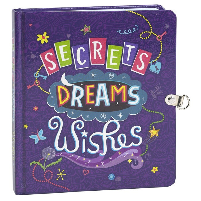 Children's lockable diary with 208 lined pages and 2 keys