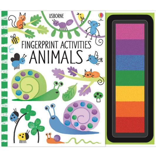 Usborne fingerprint activity craft book for children with 7 finger ink pads