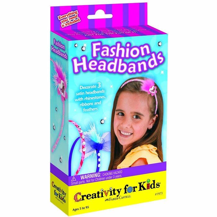 Fashion alice band making kit with 3 satin headbands to create