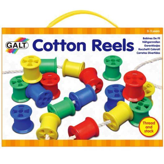 kids cotton reels threading activity set