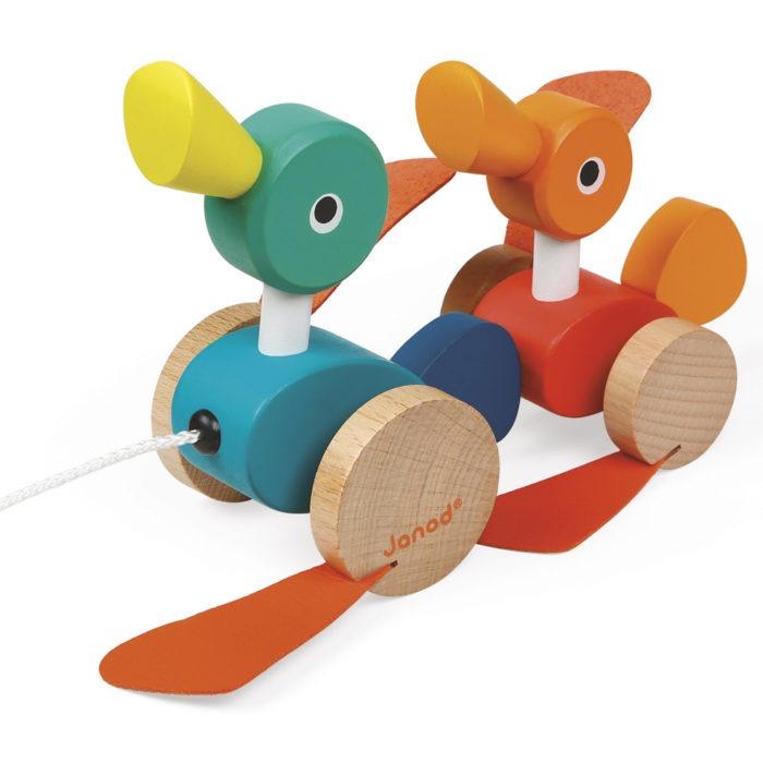 Children's Wooden pull along duck toy