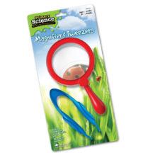 Primary Science Magnifier & Tweezers
