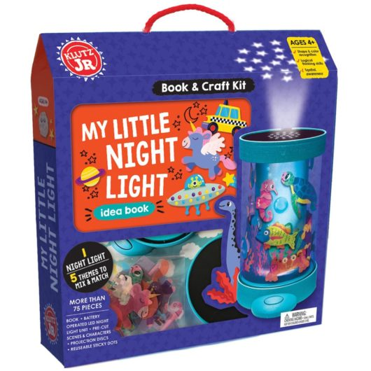 Children can create their own customised night light with this awesome craft kit by Klutz