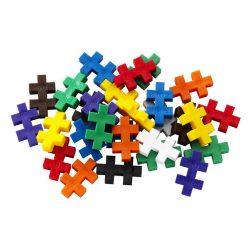 Bright multicoloured Plus Plus pieces from the Plus Plus – Basic Mix Tube