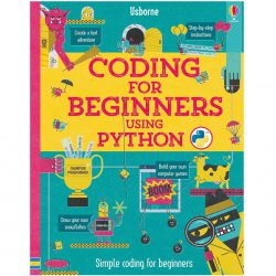 Front of book cover - Usborne's Coding For Beginners Using Python